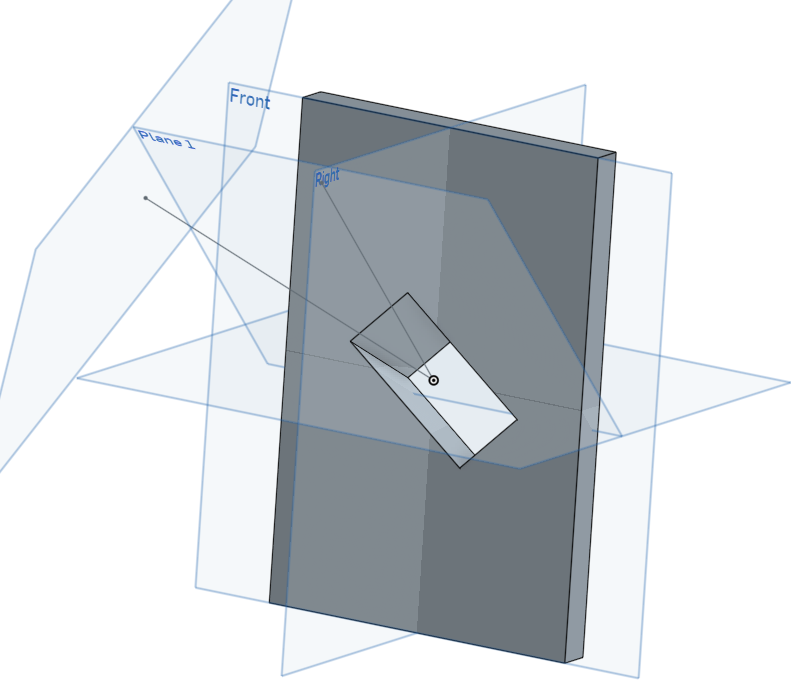 Making a hole at a specific angle — Onshape on