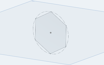 The best way to create the sketch with regular polygon via