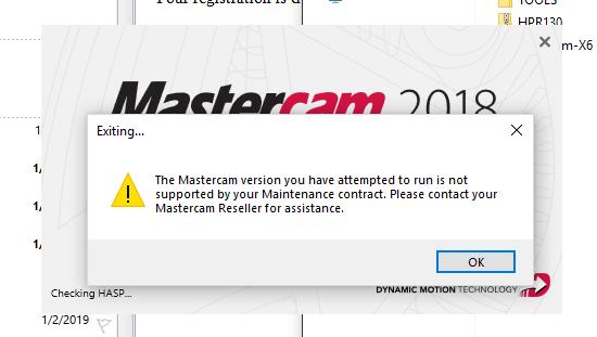 No Mastercam License Found