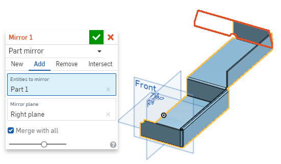 623d55fc7b5 I'm trying out Onshape with a cardboard box design using the sheet-metal  features. I have started with a line on the Right plane, converted to sheet  metal ...