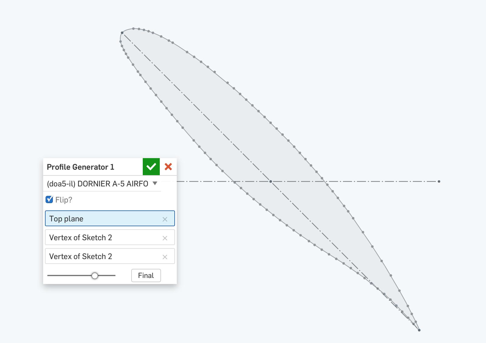 Aerofoil Profile Scripts — Onshape