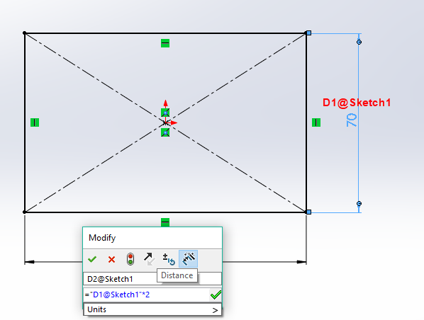How to drive dimensions from other dimensions — Onshape