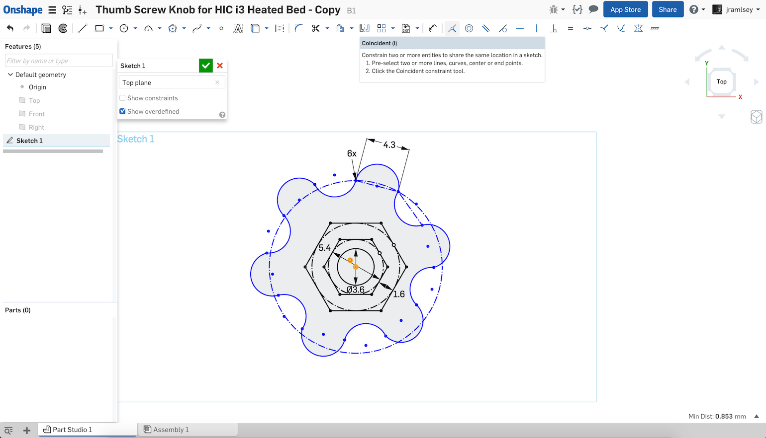 Constraints: How do I figure out what's missing? — Onshape