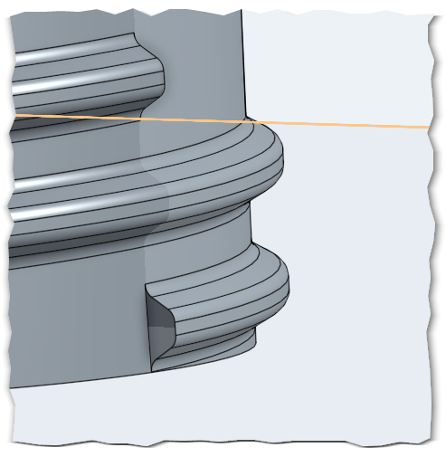 Smooth termination of bottle thread? — Onshape