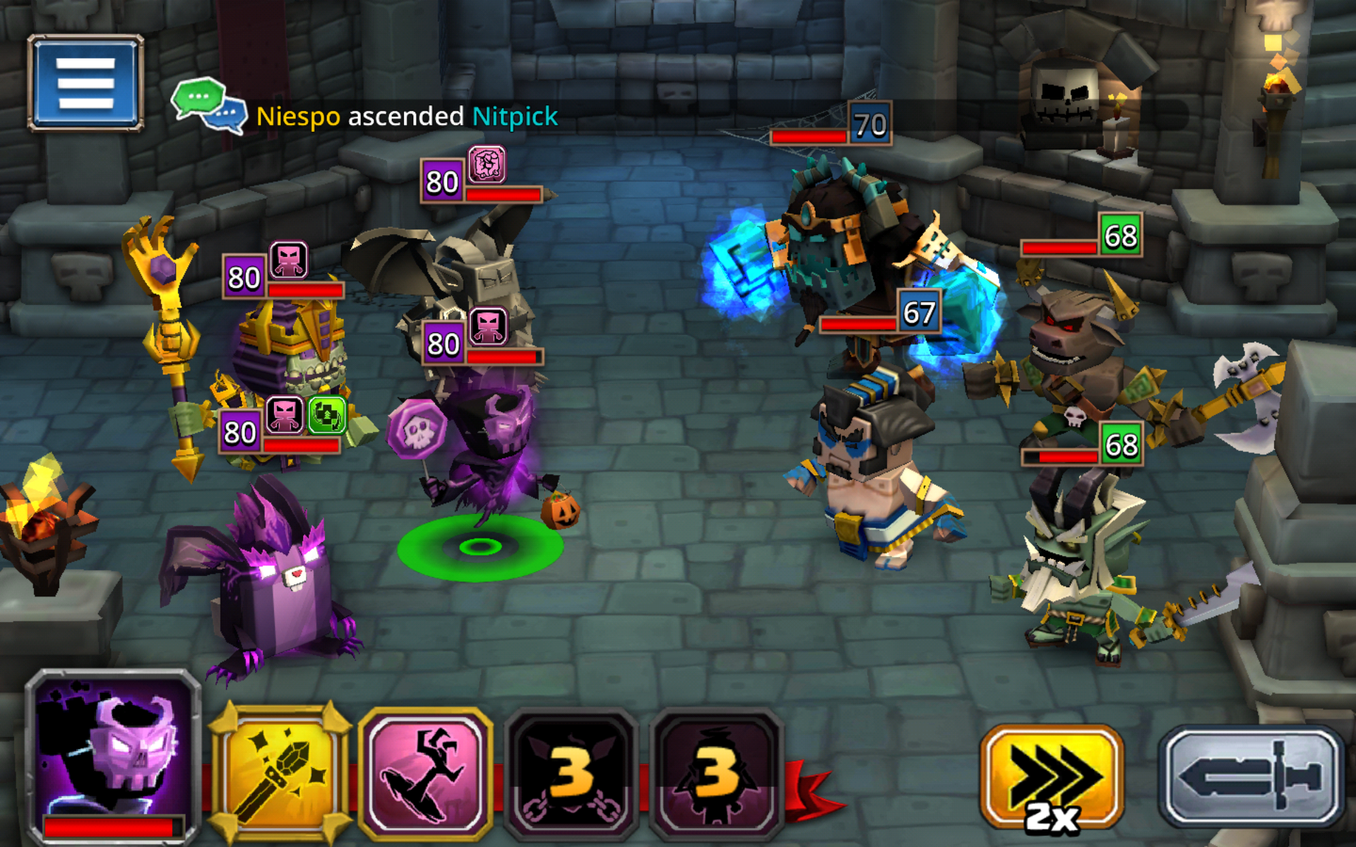 Heroes Health Bar In Tower Dungeon Boss