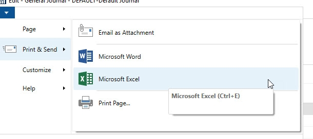 How To Export And Then Import Excel Into General Journal No Using