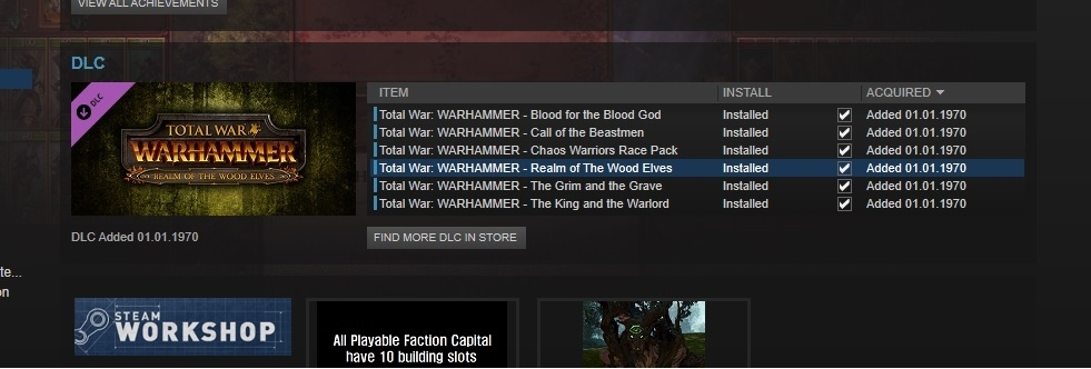 FREE DLC doesn't work on family sharing — Total War Forums
