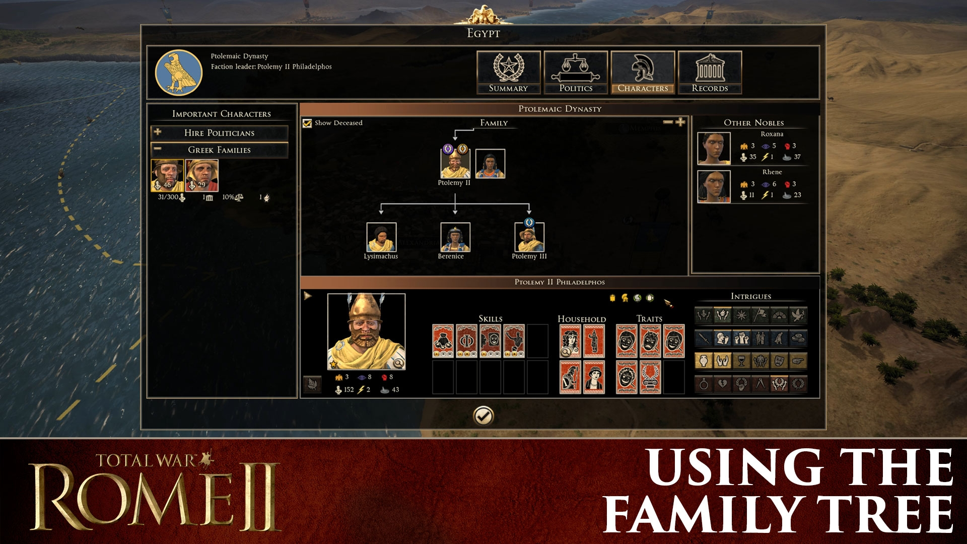 The Family Tree Is Coming To ROME II