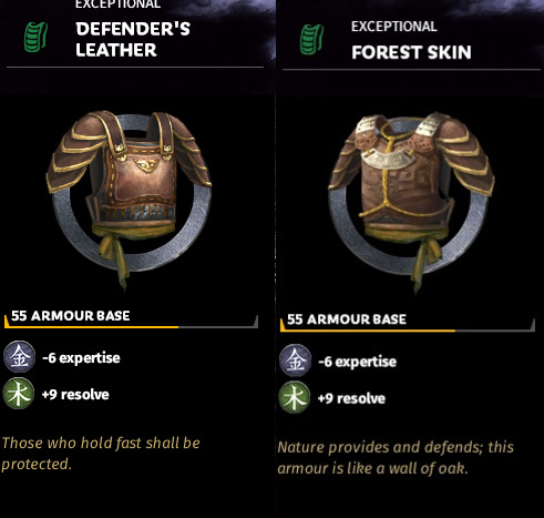New armour set has the exact same stats as the old one — Total War