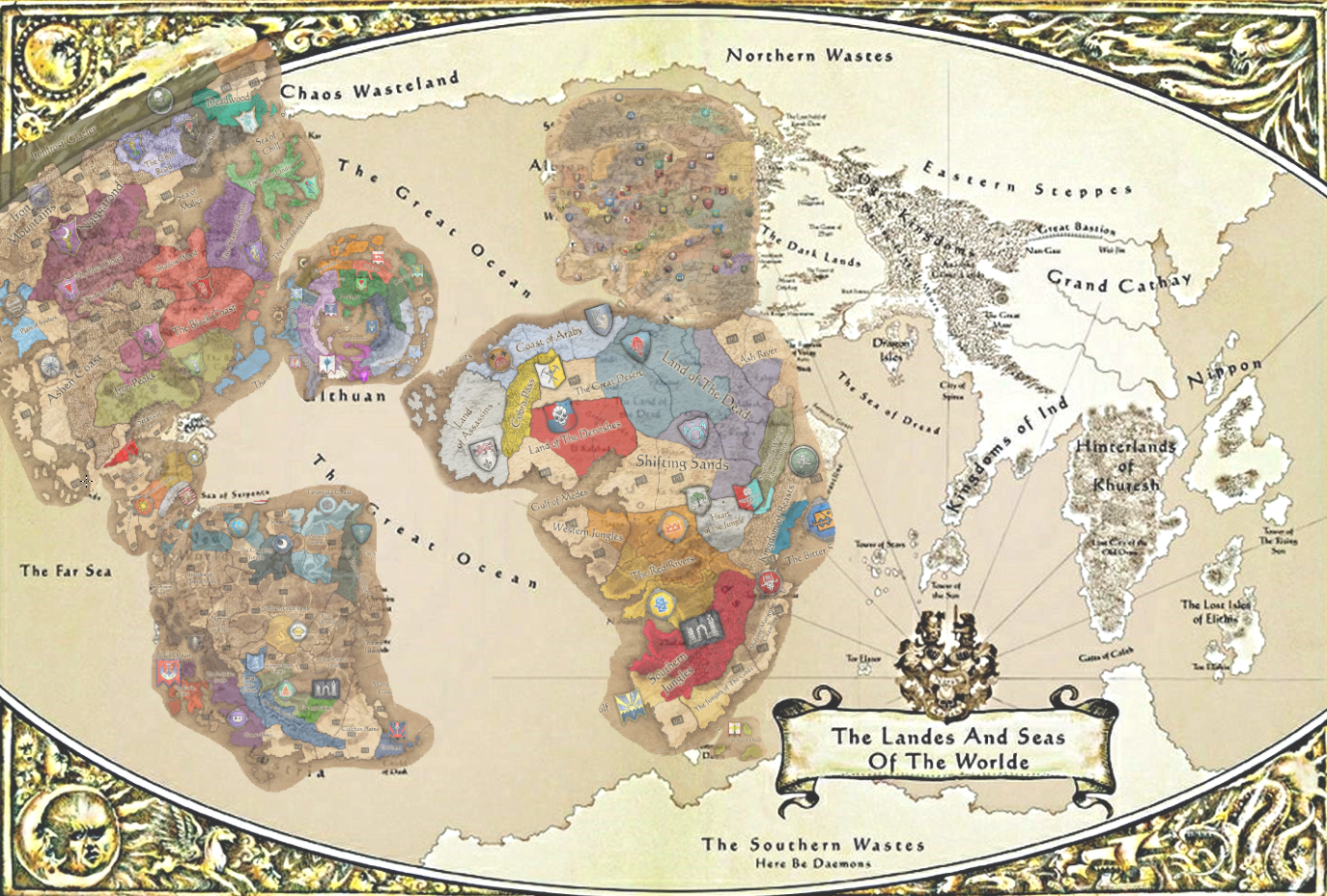 Full complete map for Warhammer 3 inminent — Total War Forums