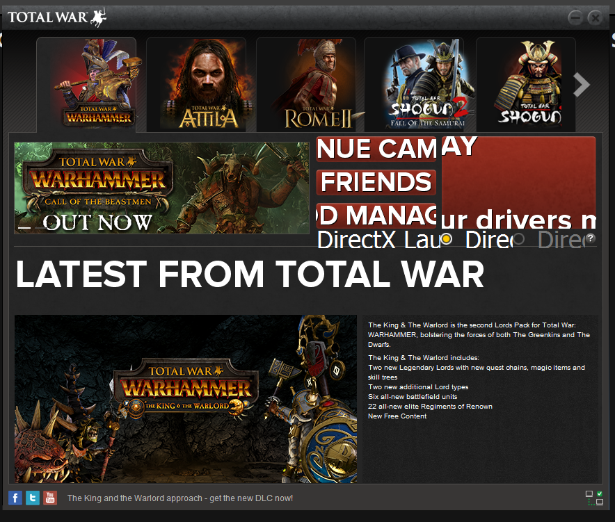 Small Size of Game Launcher — Total War Forums