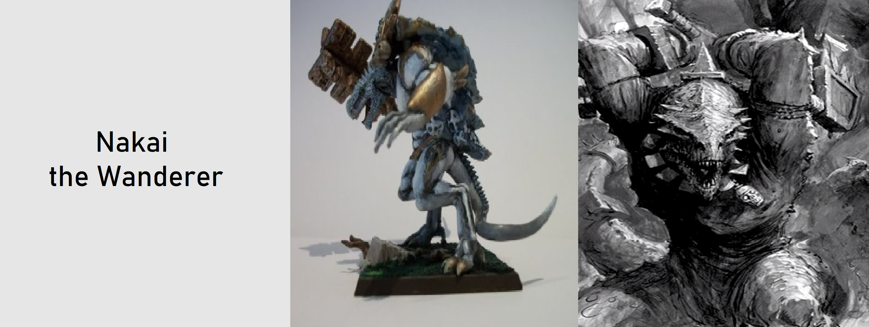 Nakai The Wanderer Figure : I'm currently considering using a reaper reptus model: