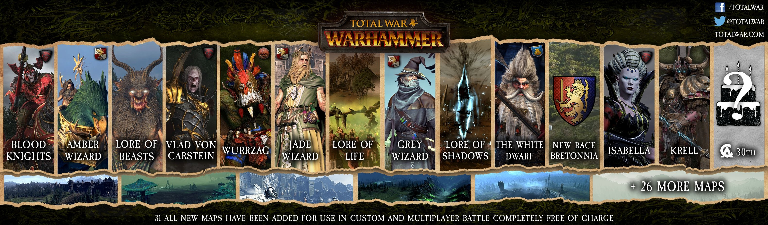 30 new Regiments of Renown for WARHAMMER — Total War Forums