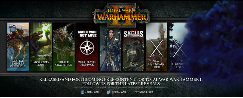 Warhammer 2: FLC array this month, no new content release