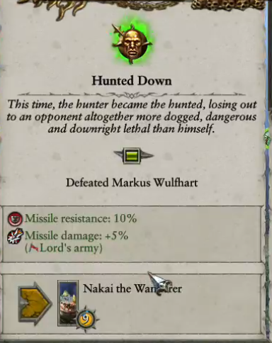 Markus Wulfhart Defeated Trait Total War Forums Home actions/activities afflictions ancestries archetypes backgrounds classes conditions creatures equipment feats hazards rules setting skills spells/rituals traits licenses sources contact us contributors support the archives. markus wulfhart defeated trait total