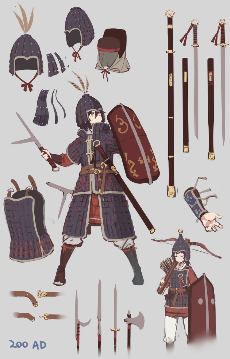 Anime Soldier Armor From The Han Dynasty To The Jin