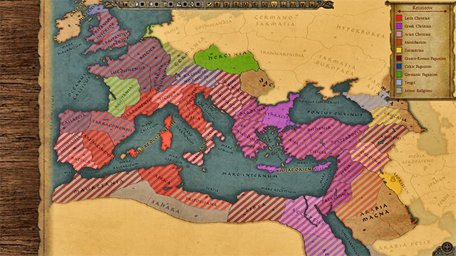 Religion Map Total War Forums - Religion map