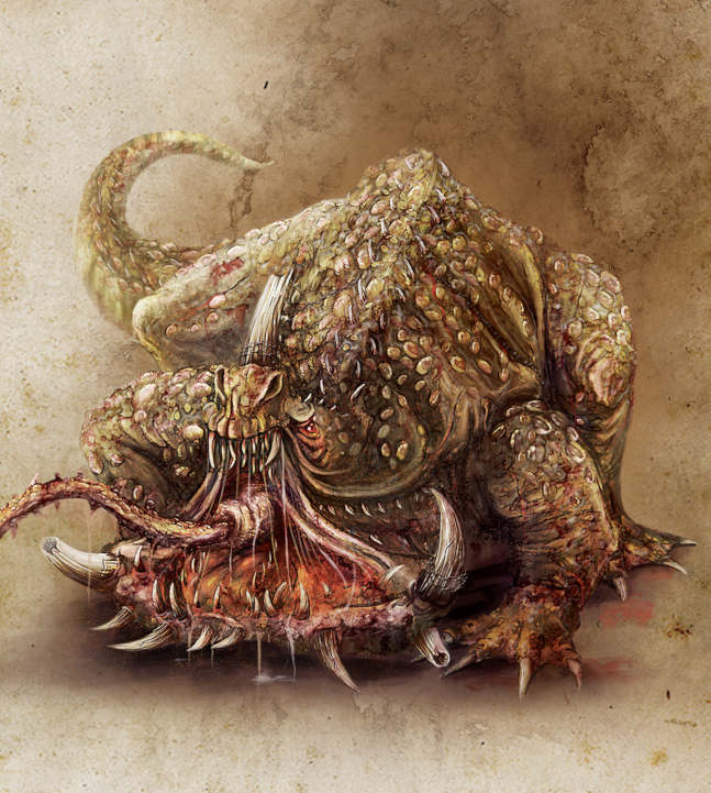 Mysterious creatures of warhammer world: Toad Dragon — Total
