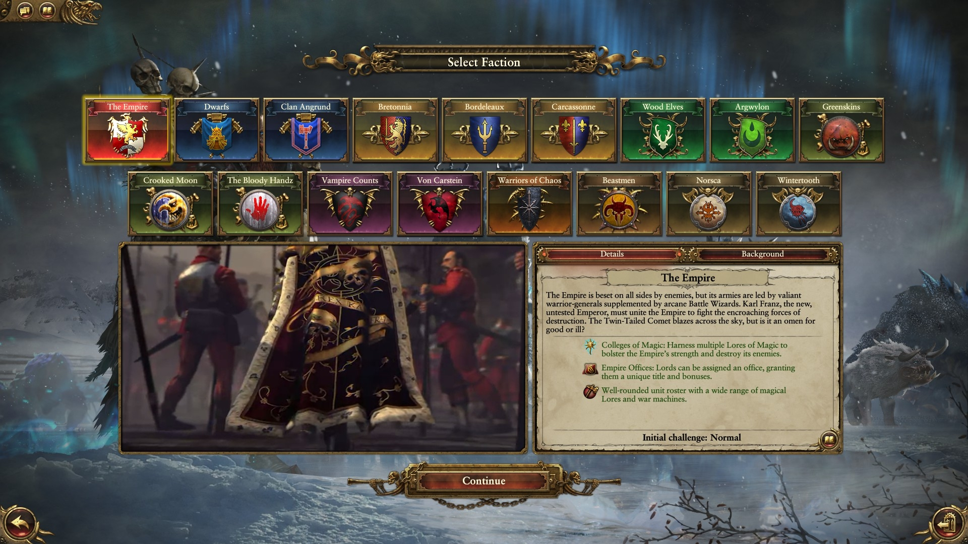 Campaign selection / multiplayer faction banners — Total War