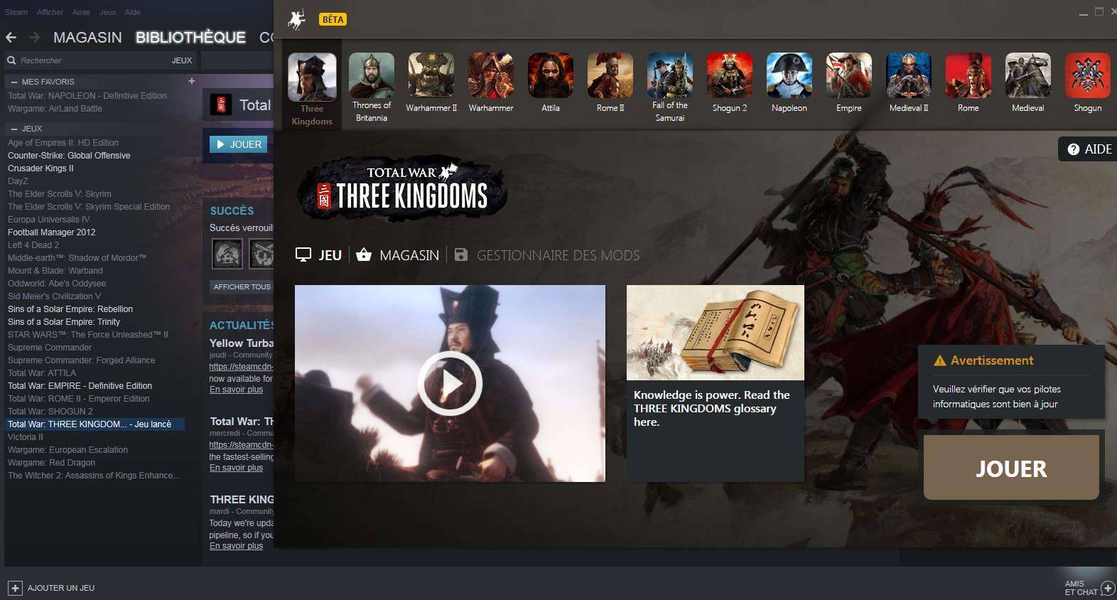 Workaround for Black loading screen game crash — Total War Forums