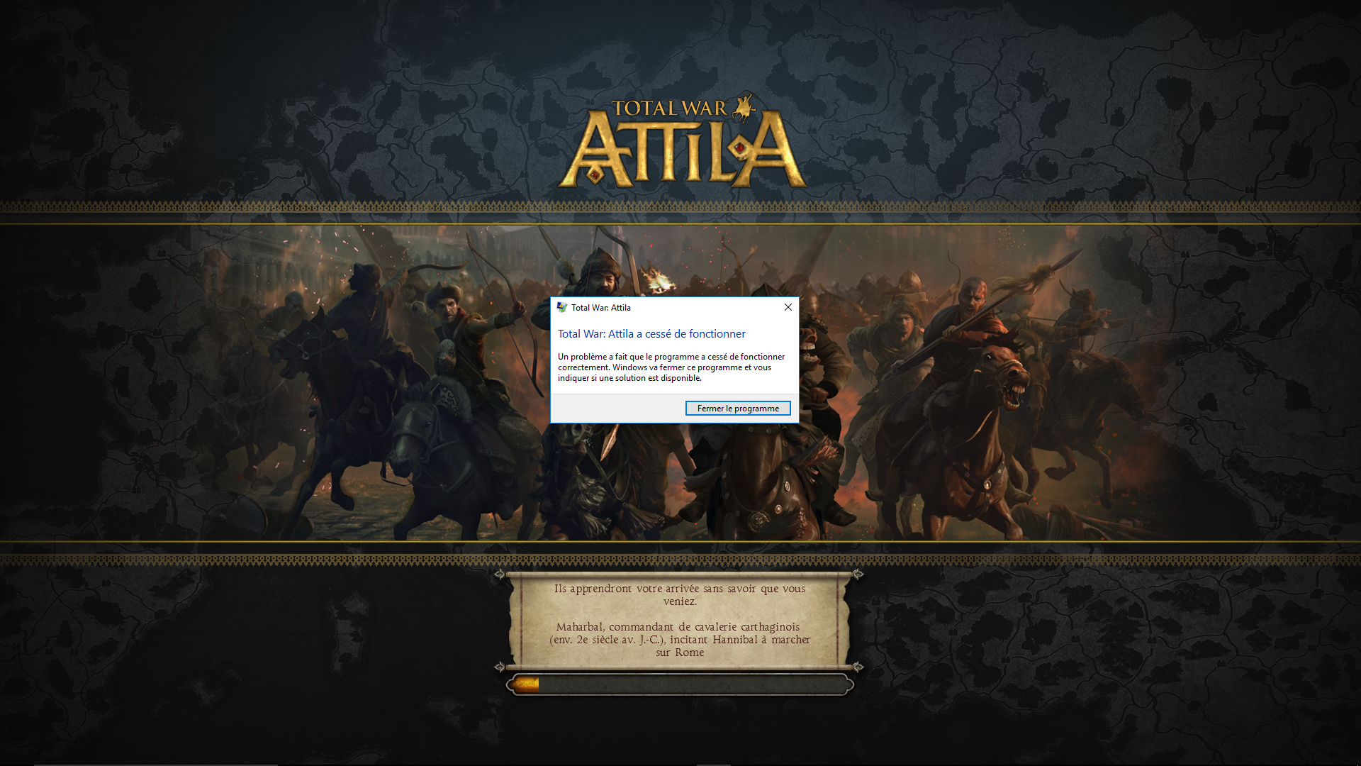 GAME CRASHES WHEN TRYING TO LOAD SAVE — Total War Forums