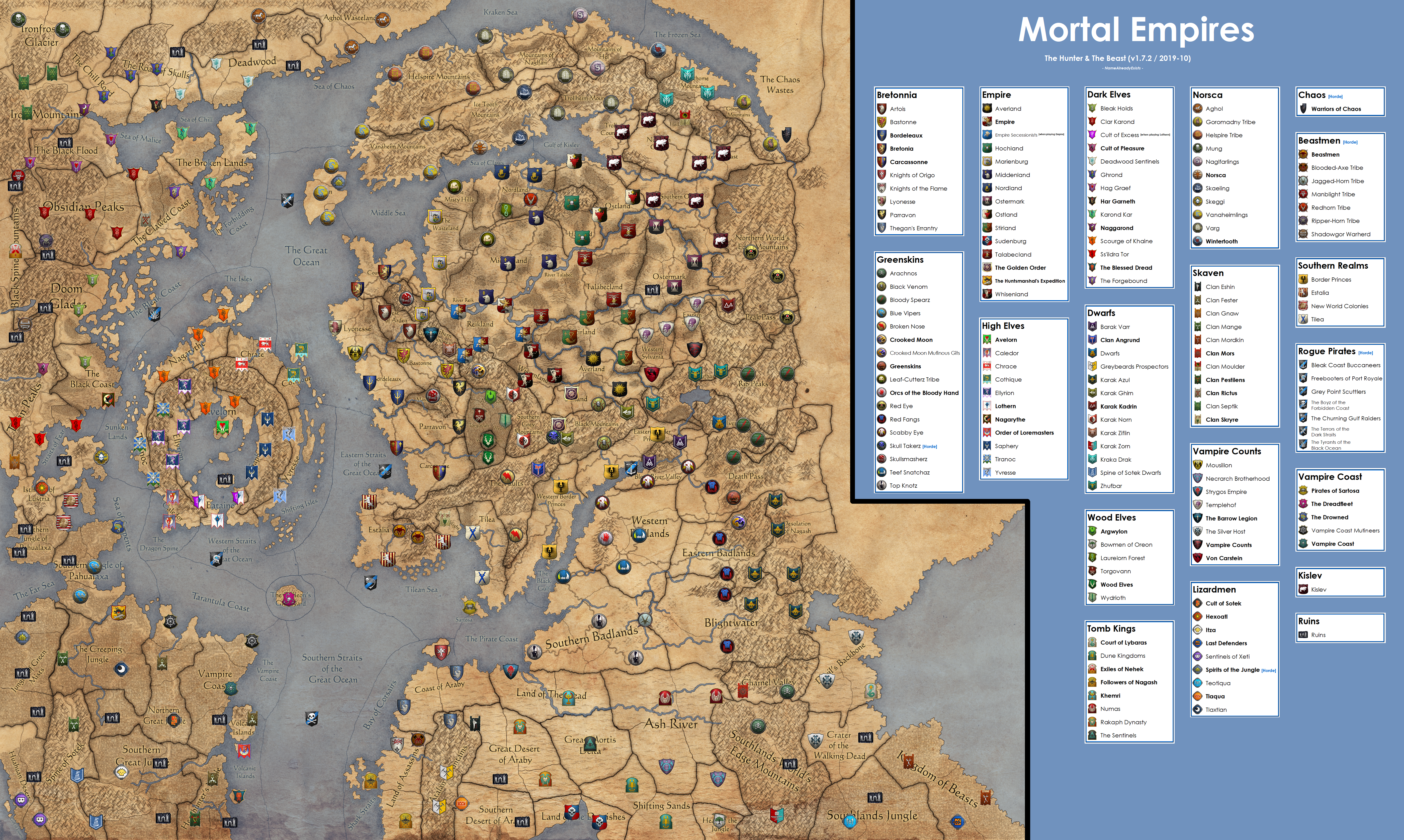 Mortal Empires Map With Starting Positions The Hunter The Beast Total War Forums When catastrophe threatens their existence. total war forums