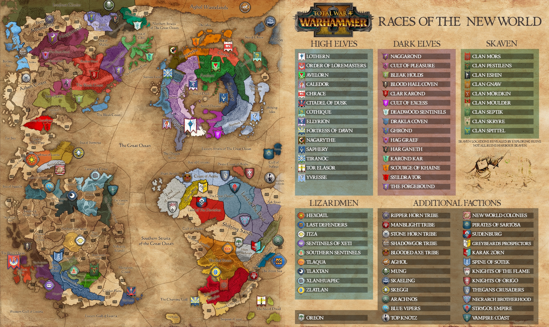 UPDATED  Total War WARHAMMER II  Eye of the Vortex Campaign Map