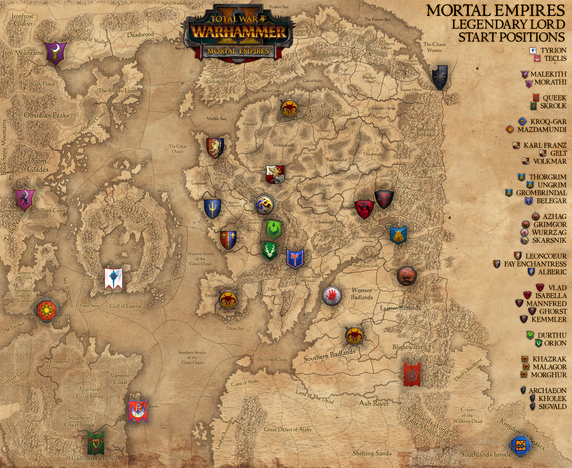 Mortal empires map and dlc lords start position speculation total mortal empires map and dlc lords start position speculation total war forums gumiabroncs Gallery