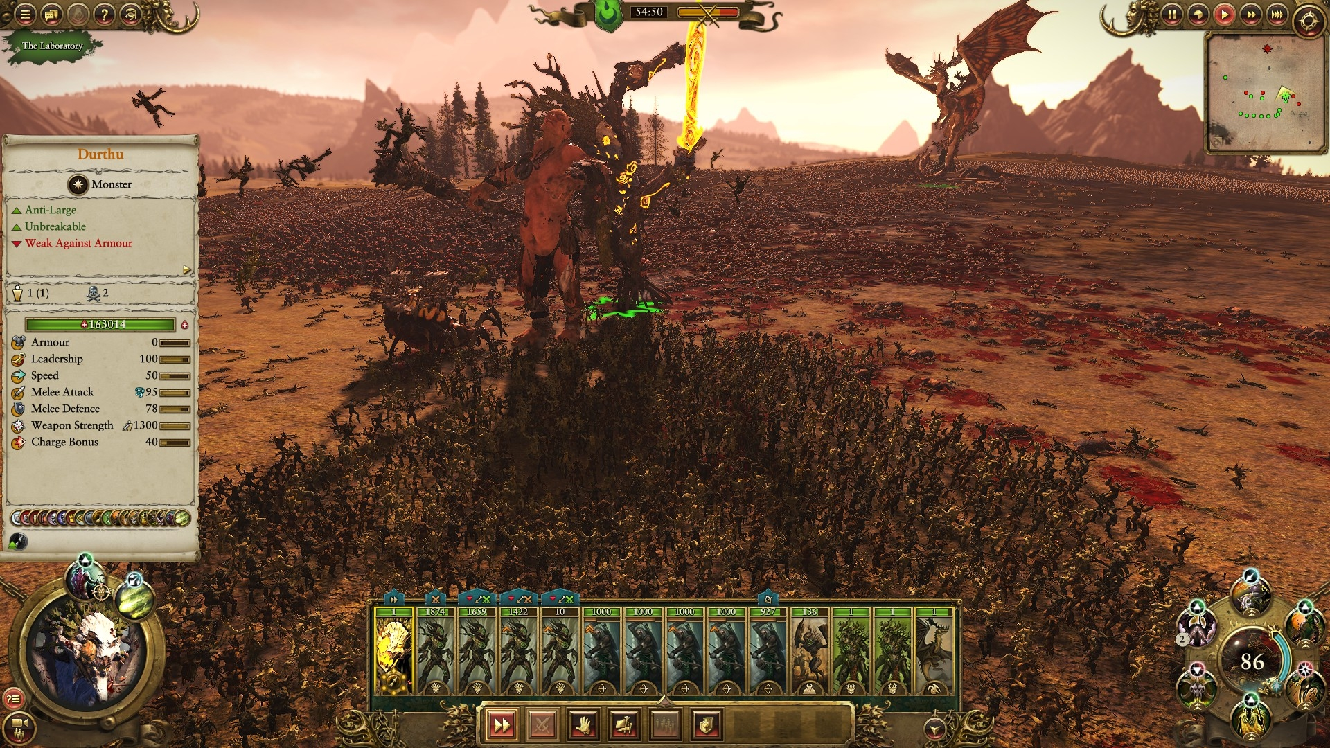 performance in Laboratory is awesome! — Total War Forums