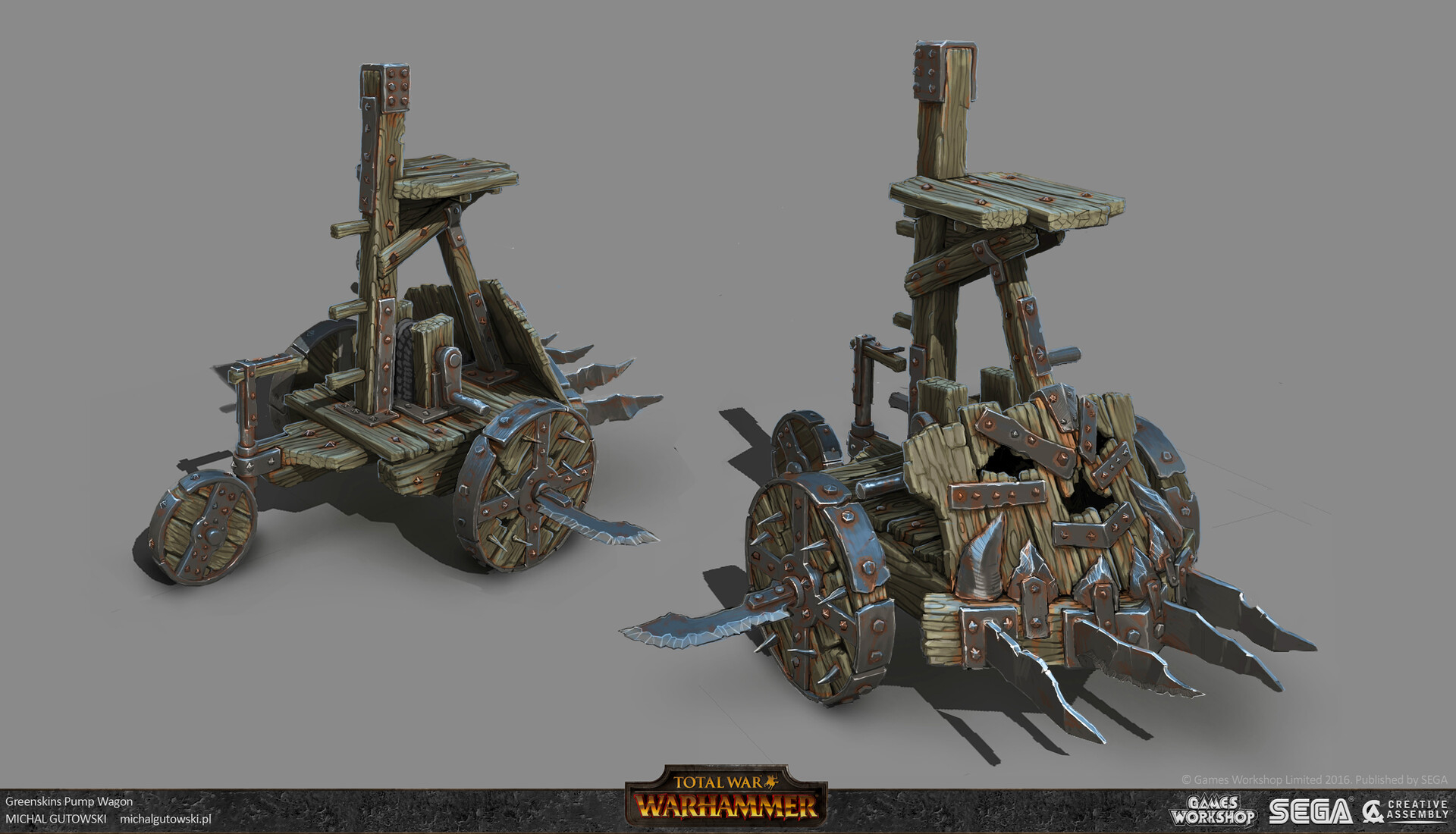 Official Leaked Concept Art Of Snotling Pump Wagon For Wh1