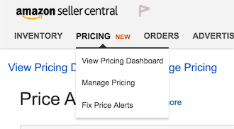 Amazon's new pricing dashboard