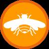 Beschäftigte Biene