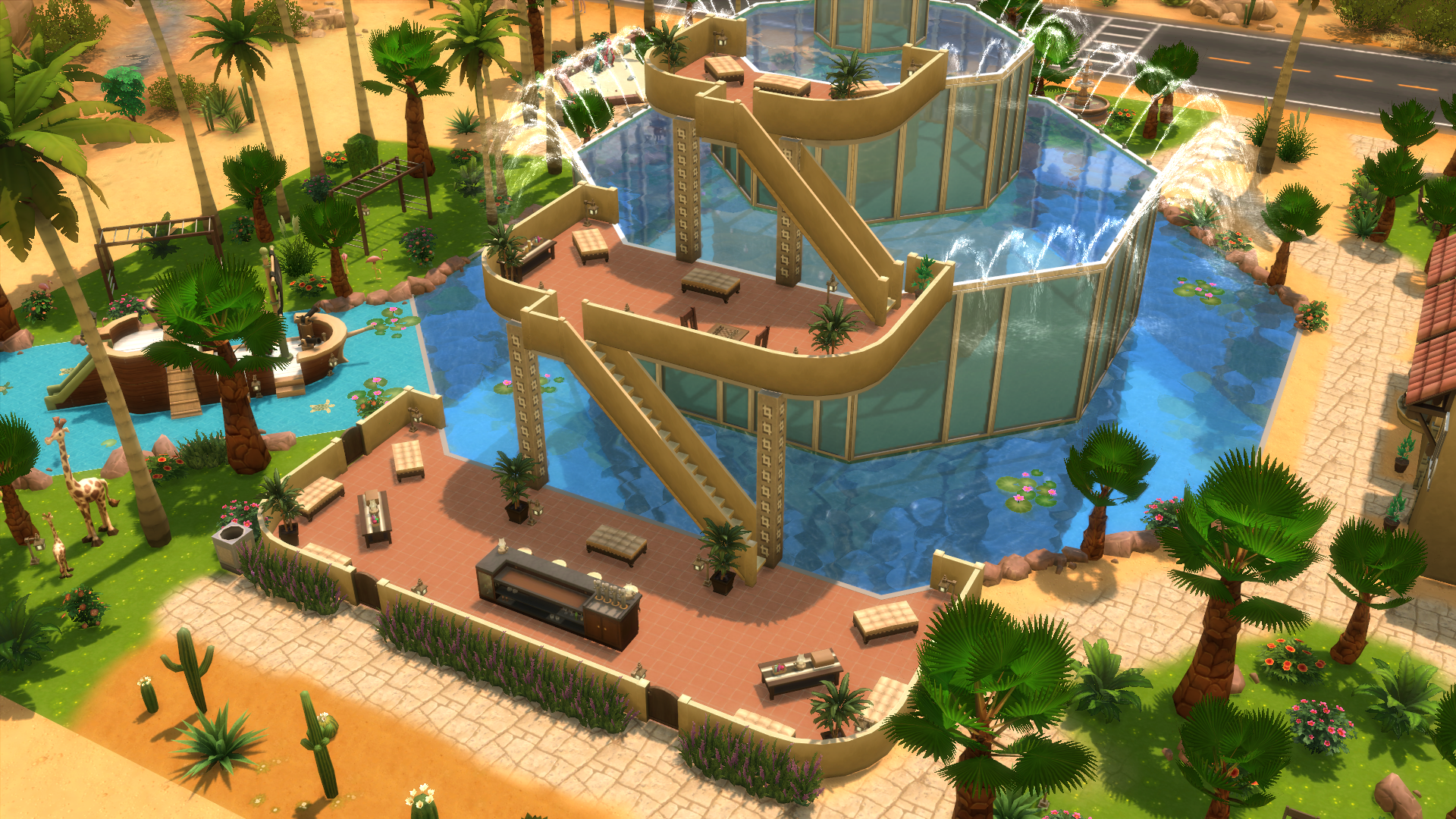 How to build a small island surrounded by water the for Pool designs sims 4
