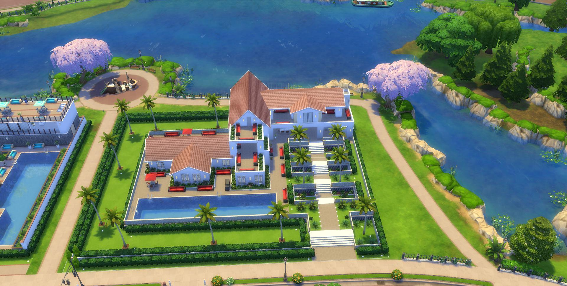 Mes cr ation sims 4 les sims for Maison prefabriquee sims 4