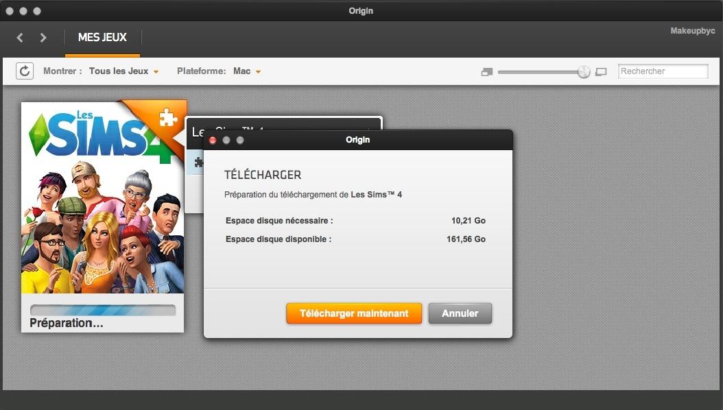 INSTALLATION ORIGIN - MAC — Les Sims