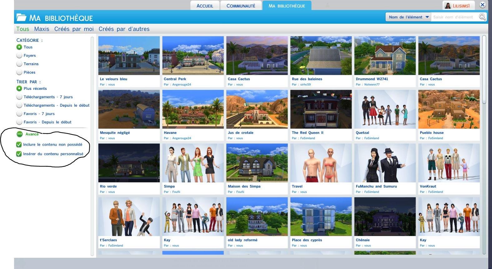 Je N Arrive Pas A Trouver Mon Sims Telecharger Dans La Galerie Les Sims