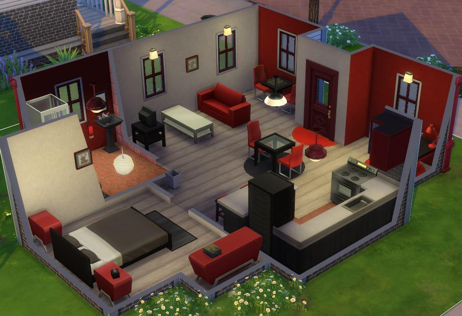 Sims 4 maison moderne interieur des id es novatrices sur Meuble de cuisine sims 4 qui s imbrique