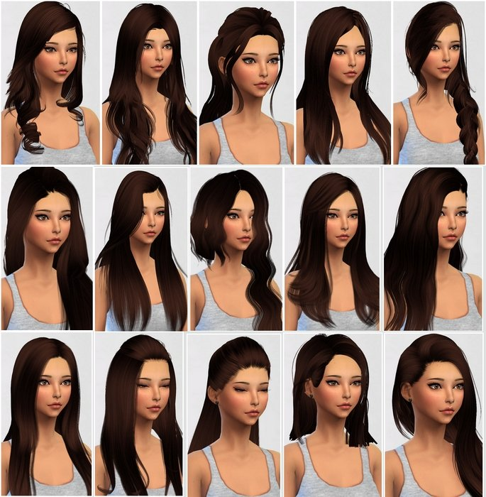 Sims 4 cheveux meches