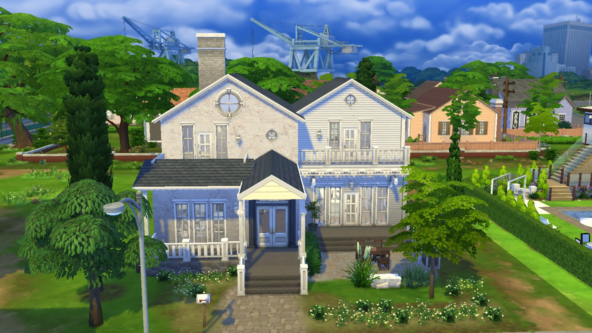 Maisons cosy cottage cologique contemporaine mais for Exterieur sims 4