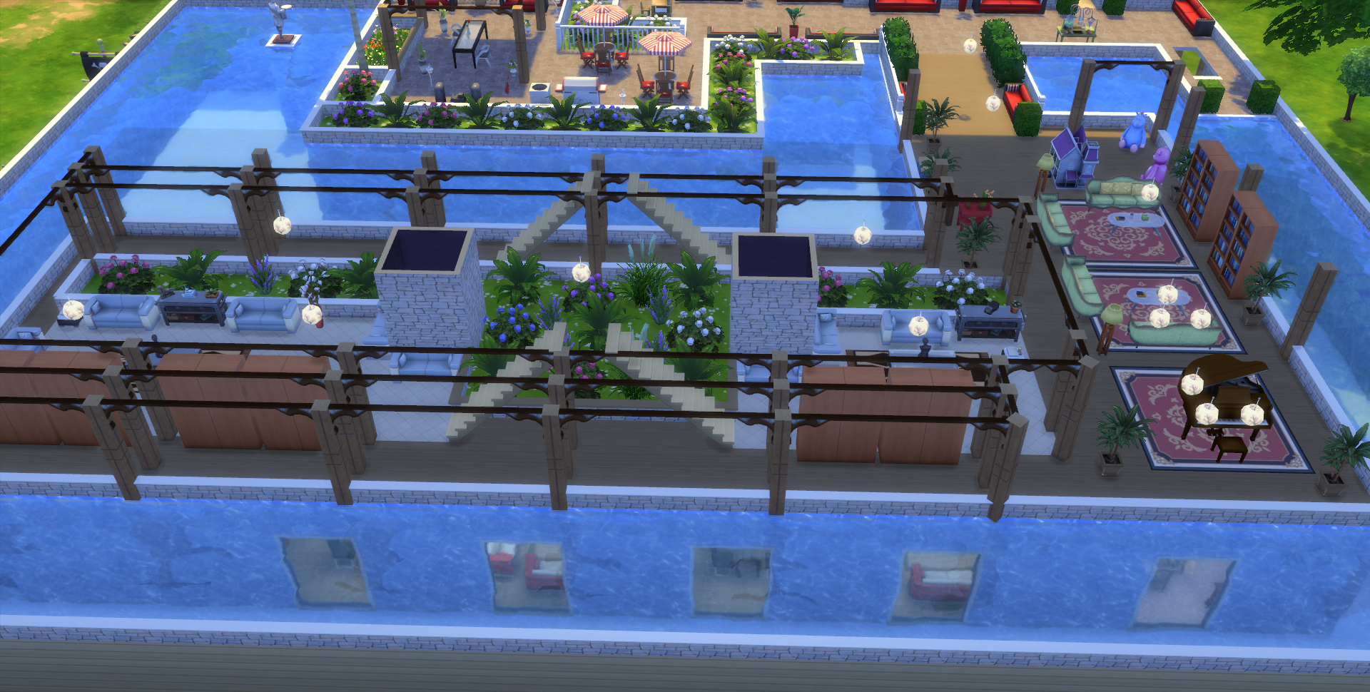 Mes cr ation sims 4 page 3 les sims for Maison sims 4 piscine