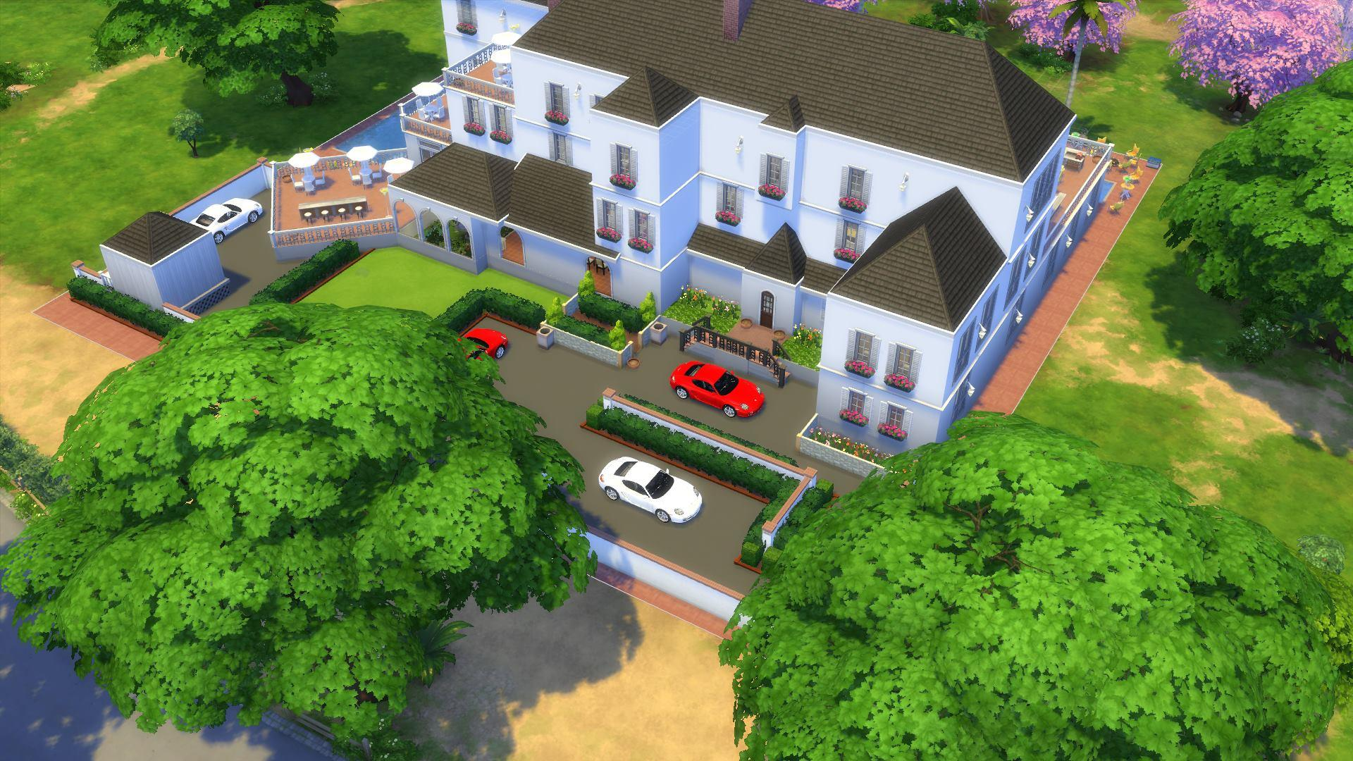 Mes cr ation sims 4 les sims for Maison sims 4 piscine
