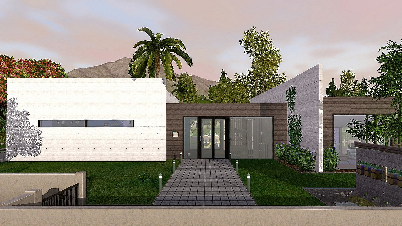 La cr ation et les sims la construction les sims for Maison moderne sims 4