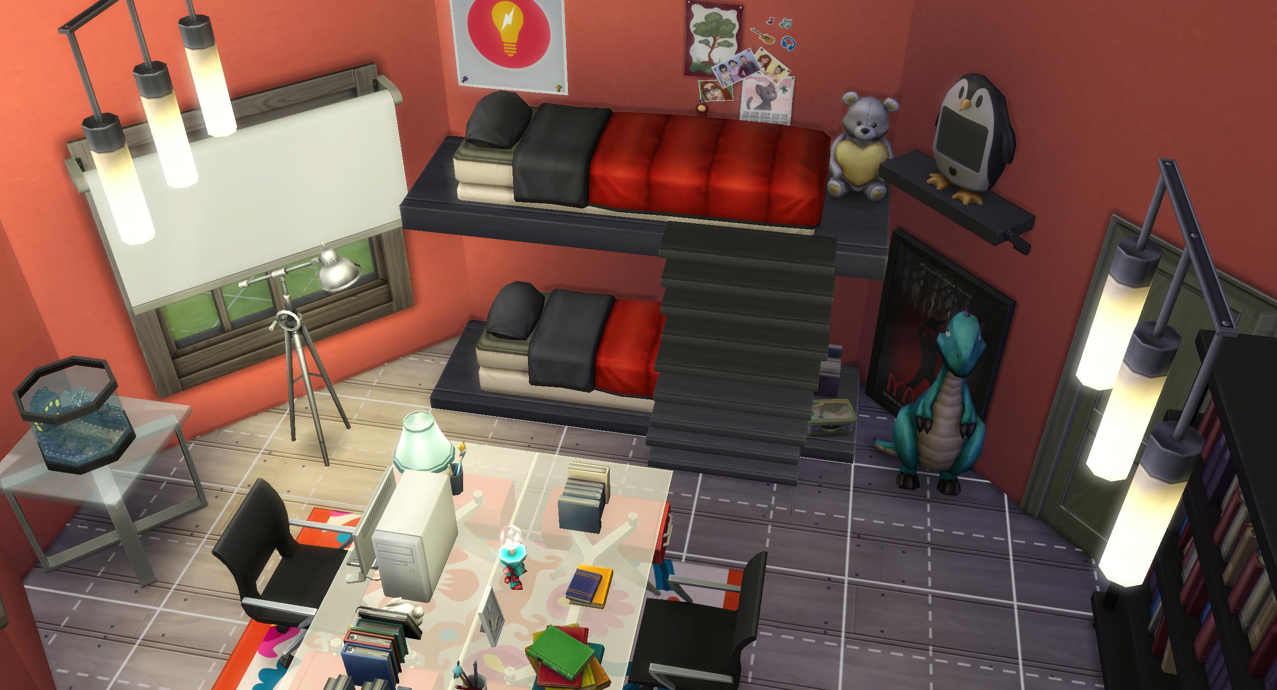camerette-letti a castello -casa sull'albero — The Sims ...