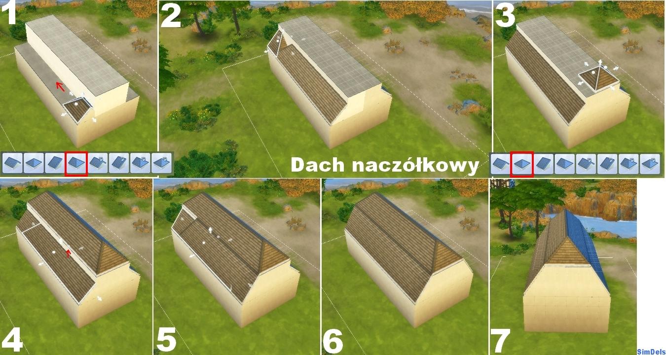 Poradnik budujemy z o one dachy w the sims 4 the sims for Sims 4 dach bauen