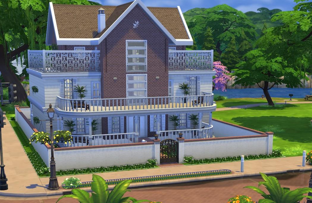 Lotes compartilhem the sims brazil for Casa moderna sims 2