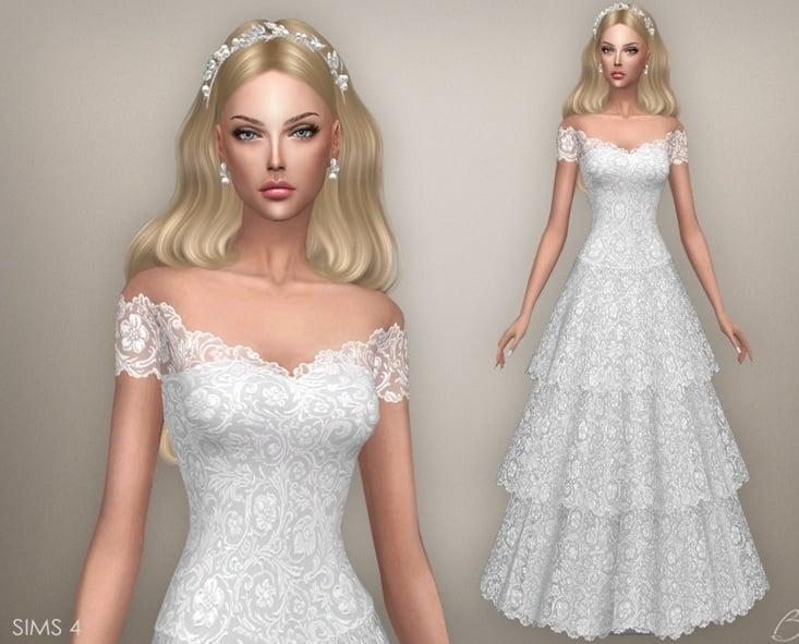 Vestidos de novia sims 4 cc