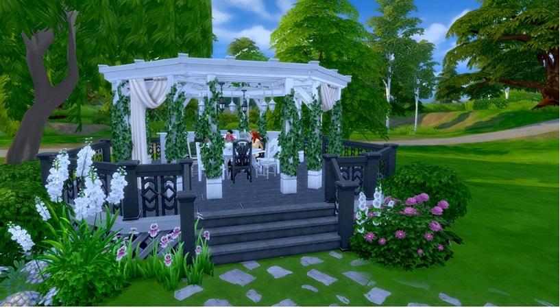 Nuevo pack de accesorios los sims 4 jard n rom ntico for Sims 4 jardin romantico