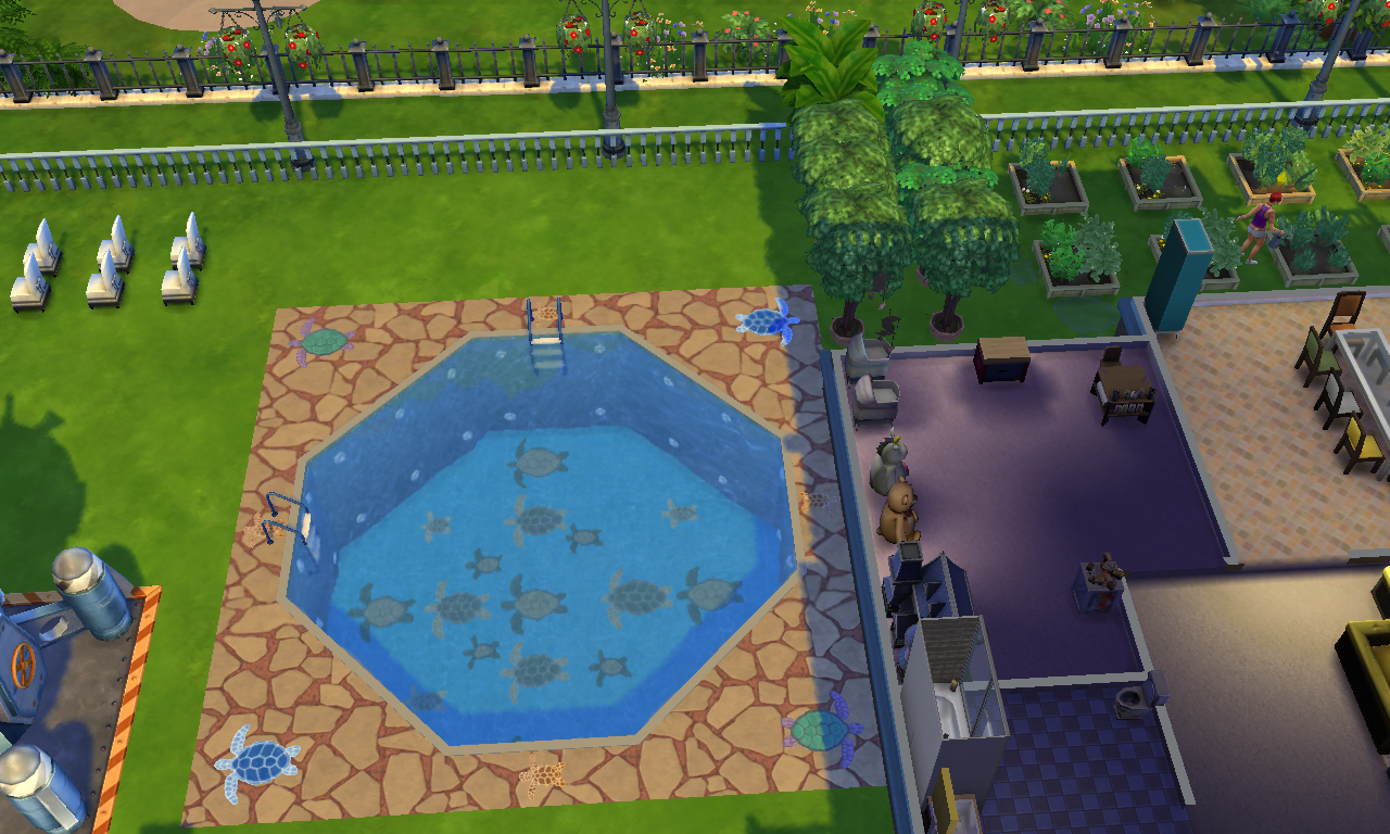 Nuestras piscinas the sims spanish for Piscina sims 4