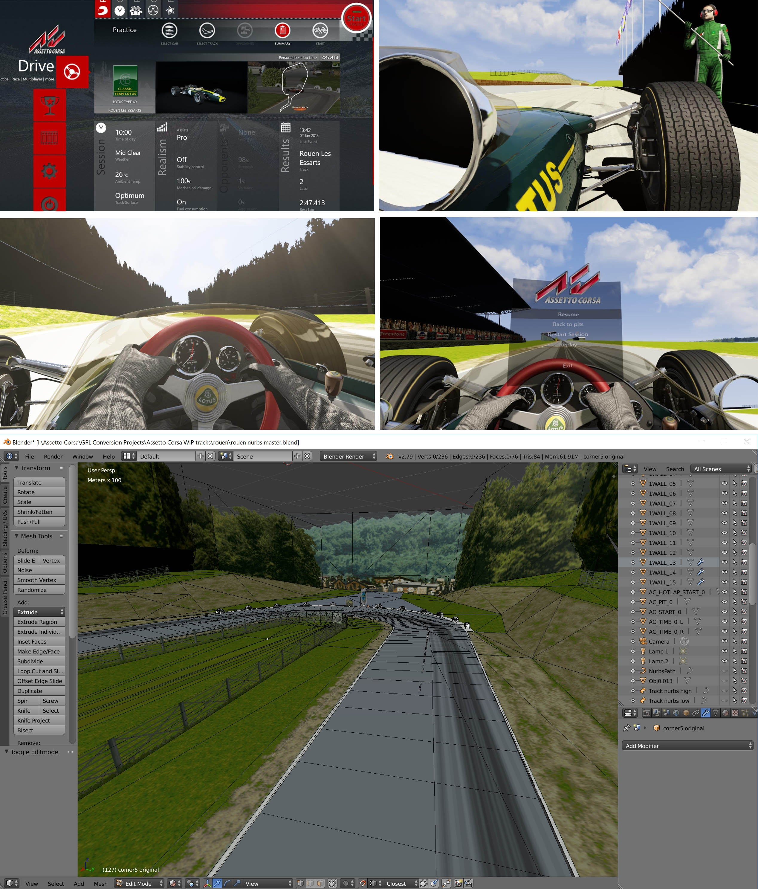 Project: GPL to Assetto Corsa now with added Tutorial — Oculus