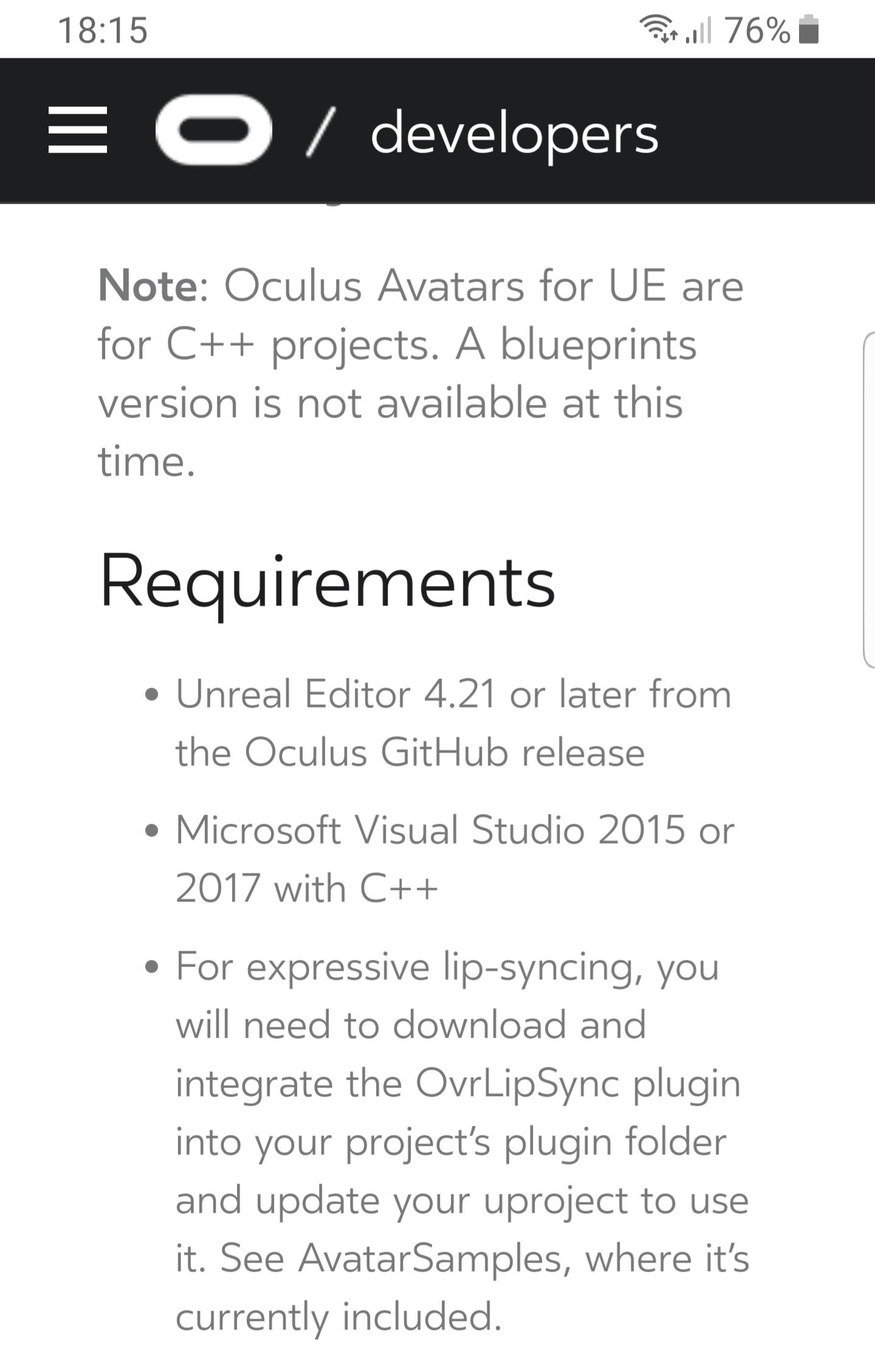 Oculus Unreal Integration - v1 36 (04/23/19) — Oculus